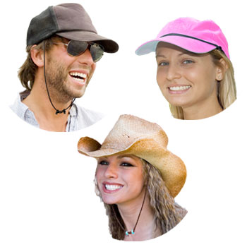 Capsurz® Cap Retainer keeps your hat on in wind