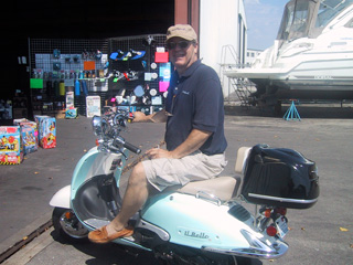 Jim on his scooter, best bucks spent testimonial