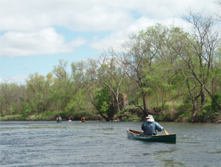 Scott paddling the Zumbro River testimonial