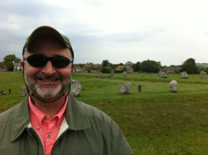 Randy Murray rocks Capsurz at windy Avebury, UK