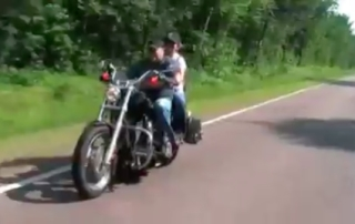 Capsurz Riding a Motorcycle