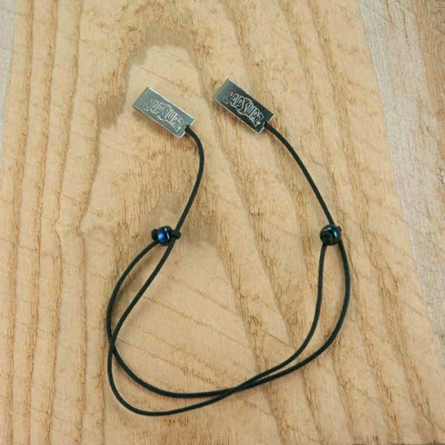 Capsurz® Keep Your Hat From Flying Off In the Wind Black Cord With Blue Iridescent Glass Beads