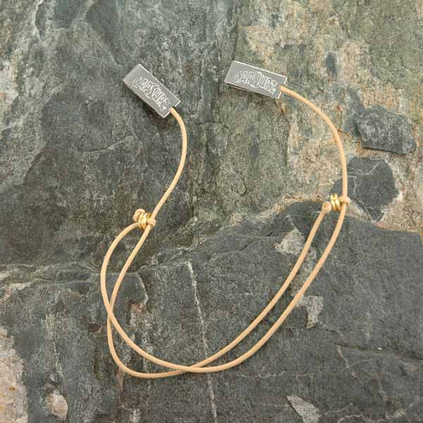 Capsurz® Keep Your Hat Securely On Your Head In the Wind Sand Cord With Brass Metal Beads