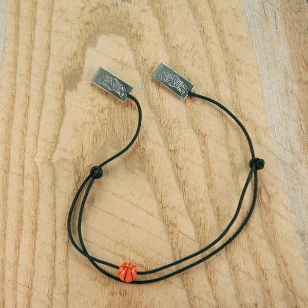 Capsurz® Hold Your Hat Down In the Wind Black Cord With Basketball Sports Bead
